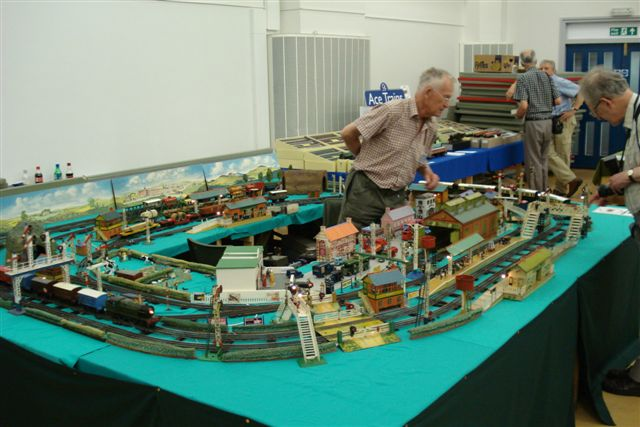 Hornby O-gauge electrically lit layout