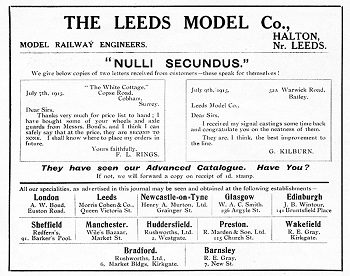 Leeds 1915 August Advertisement