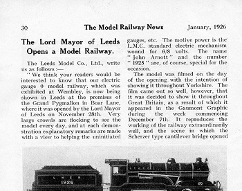Leeds 1926 January Trade News