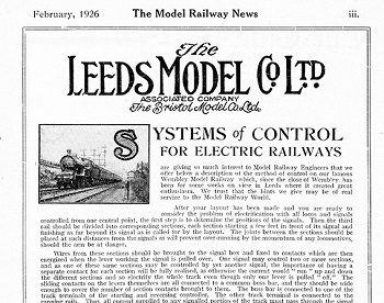 Leeds 1926 February Advertisement