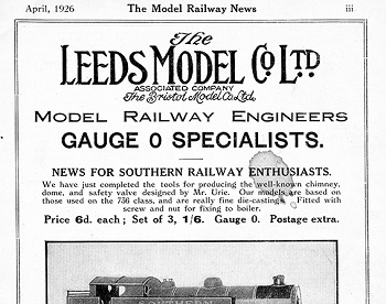 Leeds 1926 April Advertisement