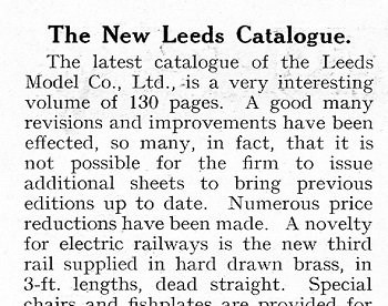 Leeds 1927 January Trade News