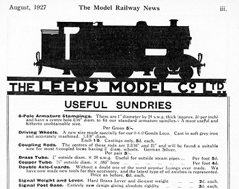 Leeds 1927 August Advertisement