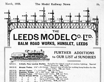 Leeds 1928 March Advertisement
