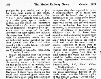 Leeds 1929 October Trade News