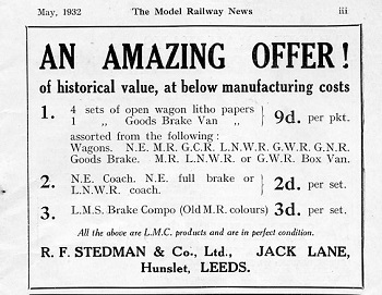 Leeds 1932 May Advertisement