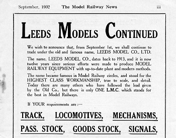 Leeds 1932 September Advertisement