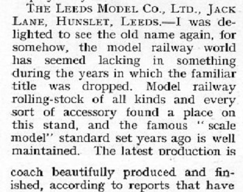 Leeds 1932 October Trade News