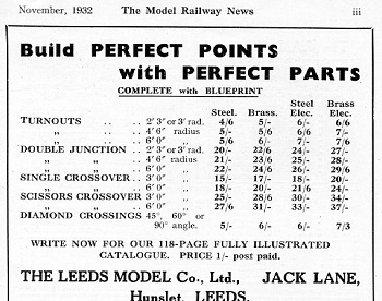 Leeds 1932 November Advertisement