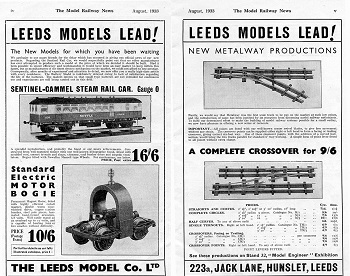 Leeds 1933 August Advertisement