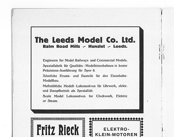 Leeds 1930 June Advertisement