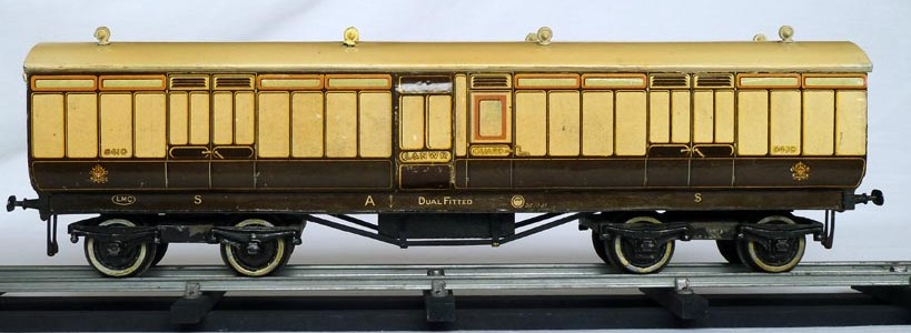Leeds litho LNWR Full Brake Coach