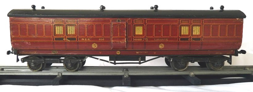 Leeds litho NER Full Brake Coach